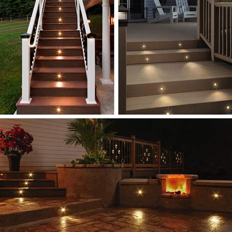led decking lights 5pcs led garden deck lights low voltage waterproof in