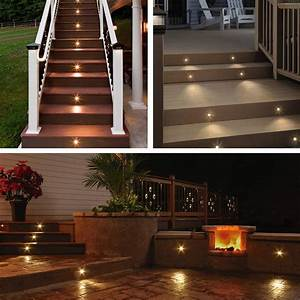 Colored Solar Pathway Lights Deck Light Yard Garden Patio Stairs Landscape Outdoor Led