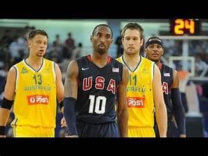 Australia vs USA 2008 Olympics Men's Basketball Exhibition ...