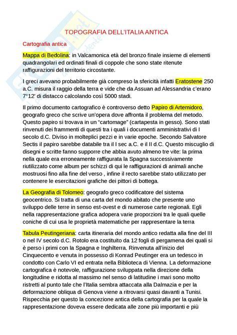 dispense topografia topografia dell italia antica appunti di topografia