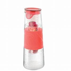 Karaffe Mit Fruchteinsatz : wasser frucht schorle karaffe infuser mit fruchteinsatz 1000ml glaskaraffe rot ebay ~ Watch28wear.com Haus und Dekorationen