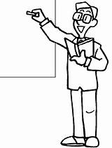 Coloring Pages Teacher Write Shows Read sketch template