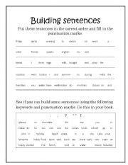 teaching worksheets word order