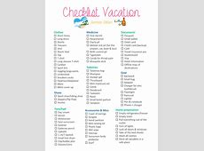 Checklist Vacation Summer Edition – The Moment Room