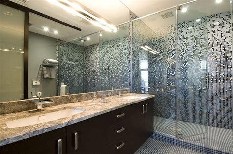 28 Nice Pictures Of Glass Tile Designs Bath