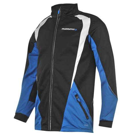 black cycling jacket muddyfox pure soft cycling jacket mens black blue cycle