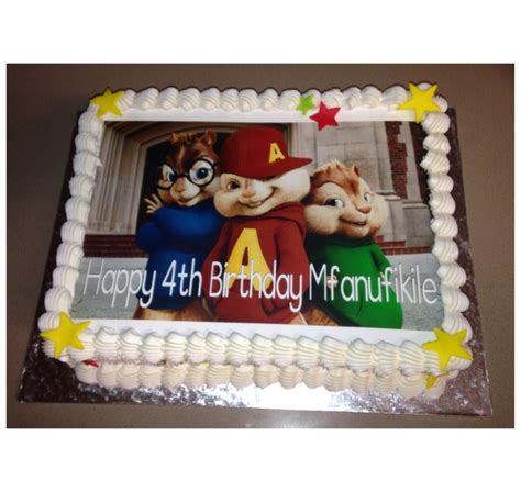 alvin and the chipmunks edible picture cake chipmunks