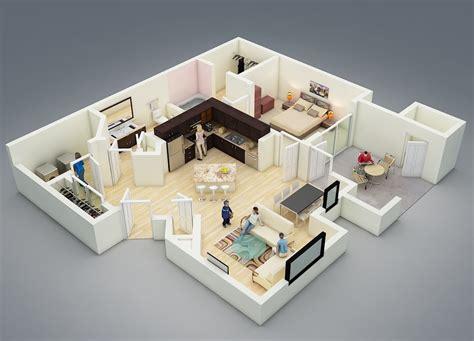 Inspiring One Bedroom One Bath House Plans Photo by پلان خانه ای با یک اتاق خواب پلان پرسپکتیو