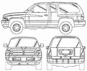 1999 Dodge Ram Suv Blueprints Free
