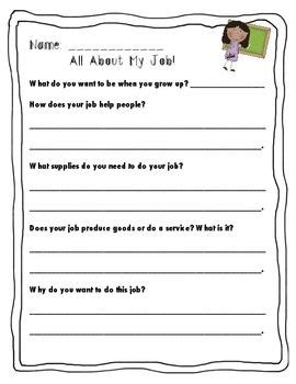 printable worksheet  careers learning   read