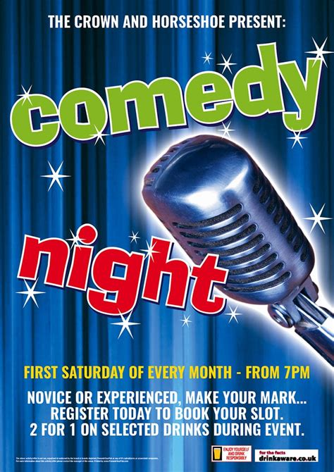 Comedy Template Poster by Comedy Night Poster A3 Posters Products Promote