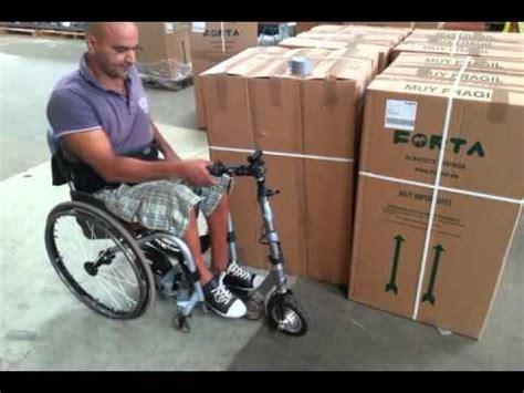 chaise roulante électrique trottinette décathlon avec roue moteur