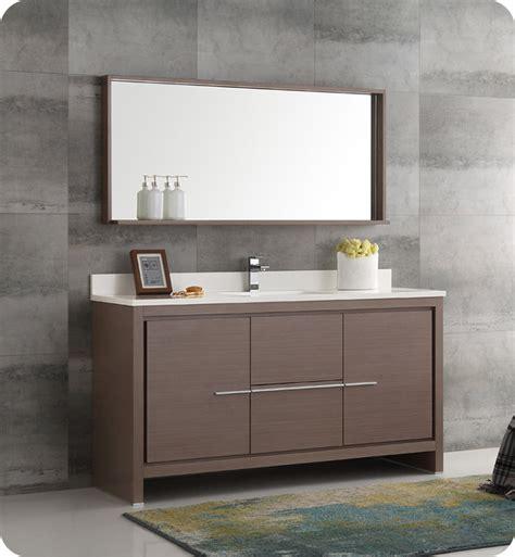 Modern Bathroom Single Sink Vanity by Fresca Fvn8119go S Allier 60 Quot Gray Oak Modern Single Sink