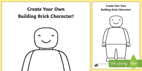 design your own person create your own character colouring template design