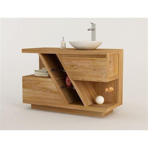 meuble teck salle de bain diagonal 224 simple vasque 224 poser kayumanis