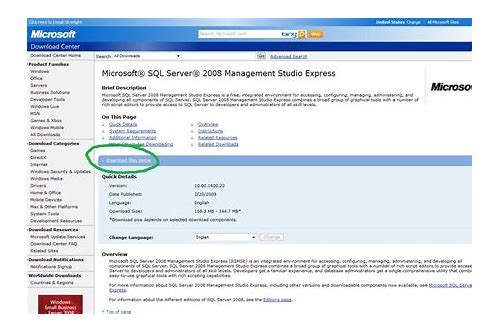 sql server 2005 management studio x64 download