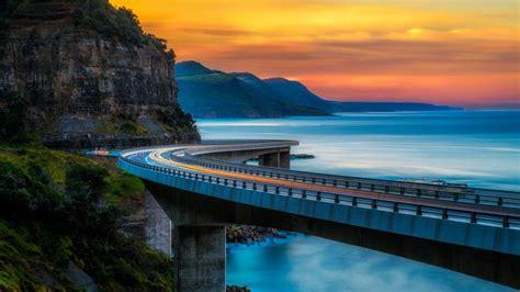 sea cliff bridge bing wallpaper