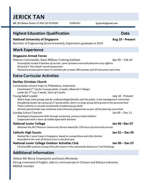 objective  resume  fresh graduate template business
