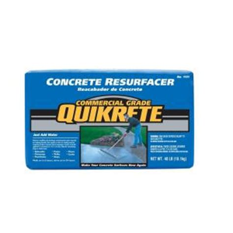 home depot quikrete floor resurfacer quikrete 40 lb concrete resurfacer 113141 the home depot