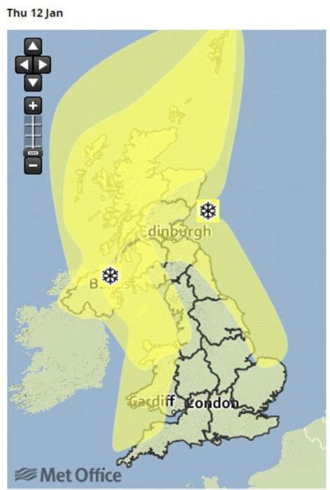 Uk Weather Outlook Thundersnow With Eight Inch Snow Blast