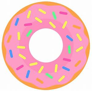 Donut With Sprinkles Clipart - ClipartXtras