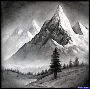 Black And White Landscape Pencil Drawings How To Draw A ...