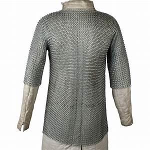 Haubergeon Replica Chain Mail Armor Long Shirt 5C3 ...