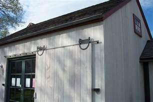 exterior sliding barn door hardware white robinson
