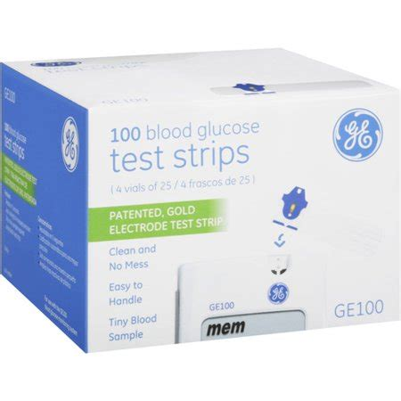 ge ge blood glucose test strips  count walmartcom