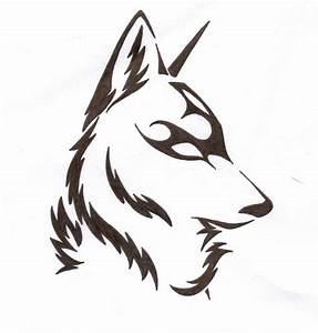 Simple Tribal Wolf Tattoo - Best Home Decorating Ideas