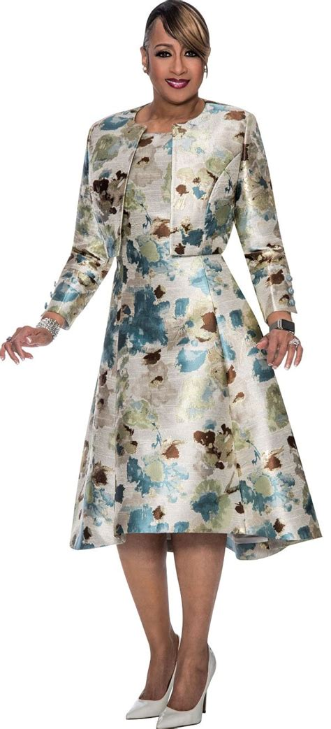 dorinda clark cole dcc jacket dress  church french