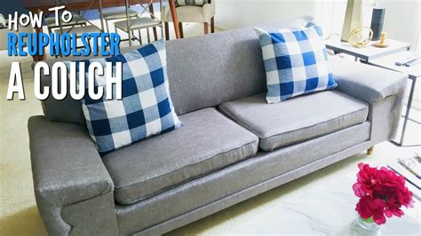 diy   reupholster  mid century modern couch