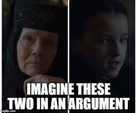 Lyanna Mormont Memes - imagen de game of thrones olenna tyrell and lyanna mormont game of thrones pinterest