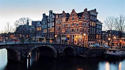 Amsterdam Winter Wallpapers Town Nederland Europe Bridge
