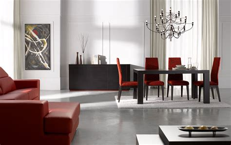 black and white dining room sets extendable rectangular in wood fabric seats modern