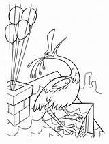 Bird Coloring Roof Colorare Disegni Tetto Luccello Dach Dachu Ptak Sul Colorear Vogel Dem Dibujo Kolorowanka Russell Odlot Dibujos Loiseau sketch template