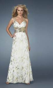 WHITE GOLD PROM DRESSES - The Dress Shop