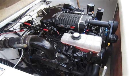 Mercury 496 supercharger, start up. - YouTube