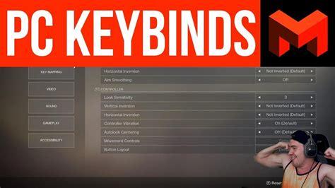 destiny  pc keybinds  favorite setup youtube