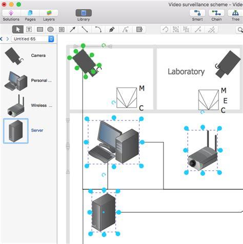 Create Cctv Schematic Diagram Conceptdraw Helpdesk
