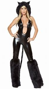 Sexy Black Catsuit Costume N4290
