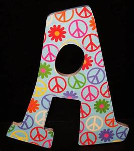 peace sign painted letter crafts pinterest With peace sign letter