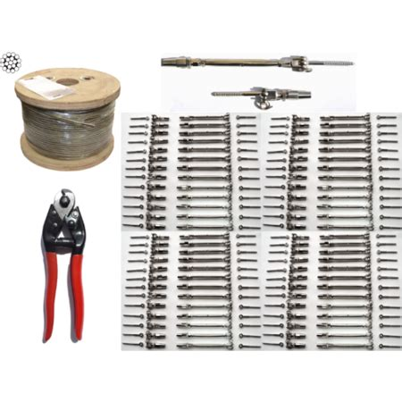 Cable Banister Kit by 250 Ft 5 32 Stainless Steel Cable Railing Kit For Up To
