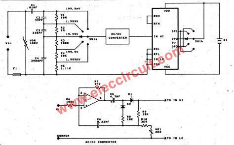 digital ac voltmeter circuit diagram readingrat net