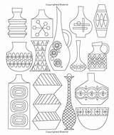 Objet Deco Coloring Drawing Century Mid Gyazo Capture Adult Modern sketch template