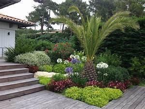 Aménagement paysager aux abords d'une terrasse Bassin d'Arcachon Paysagiste Bordeaux Jardins