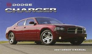 2007 Dodge Charger Owner Manual User Guide Reference