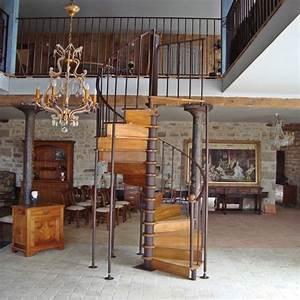 Escalier Fer Et Bois : escalier en fer forg et bois sur mesure ~ Dailycaller-alerts.com Idées de Décoration