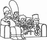 Simpsons Coloring Pages Couch Sofa Simpson Bart Drawings Colouring Para Colorir Printable Wecoloringpage Lisa Desenhos Drawing Sheets Getcolorings Homer Desenho sketch template