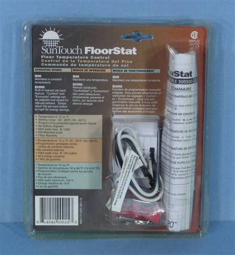 suntouch heated floor manual suntouch floorstat floor temperature thermostat